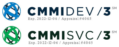 CMMI level 3 dev and svc logos
